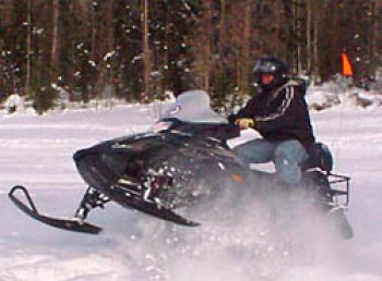Snowmobiling near Grand Canyon