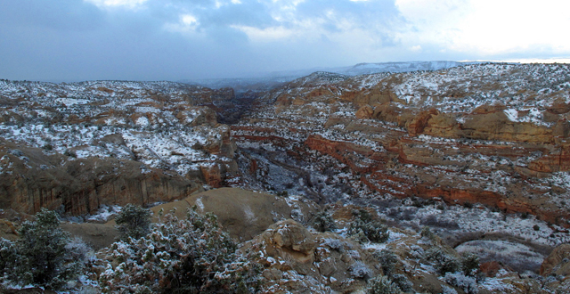 Snow in Escalante By oldmantravels