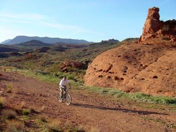 Biking in Capitol Reef