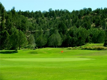 Golfing near Panguitch Lake