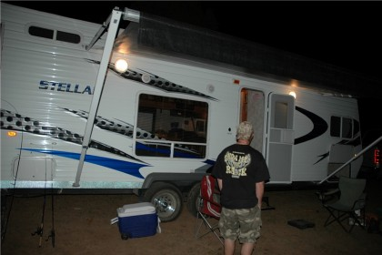 Camping at Panguitch Lake