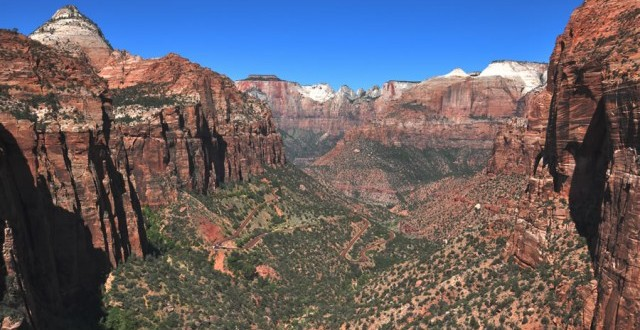 West view from end of Canyon Overlook hike in Zion National Park